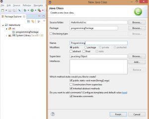 Eclipse Class Letrehozas Java Programozas