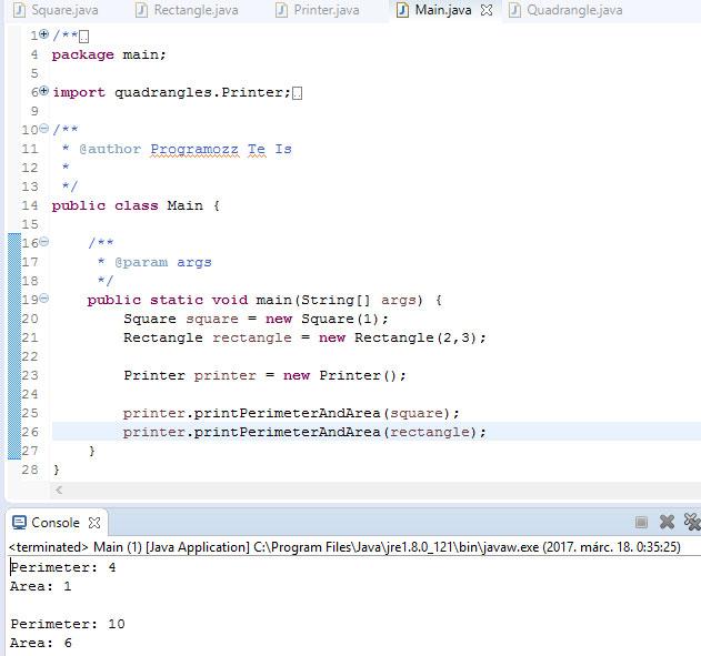 QuadrangleMain Java Programozas