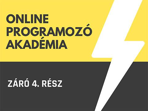 Online Programozó Akadémia - 4. RÉSZ